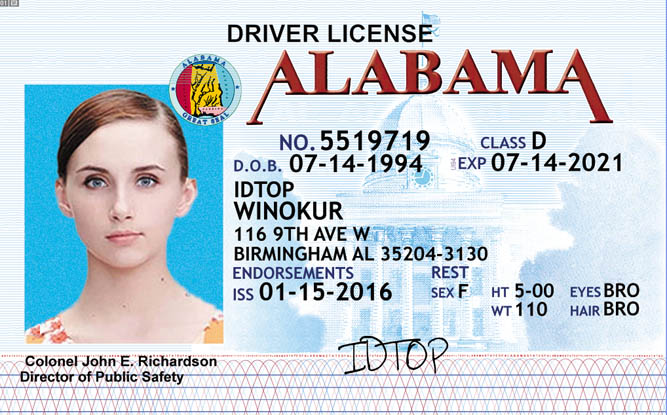 ALABAMA Fake IDs