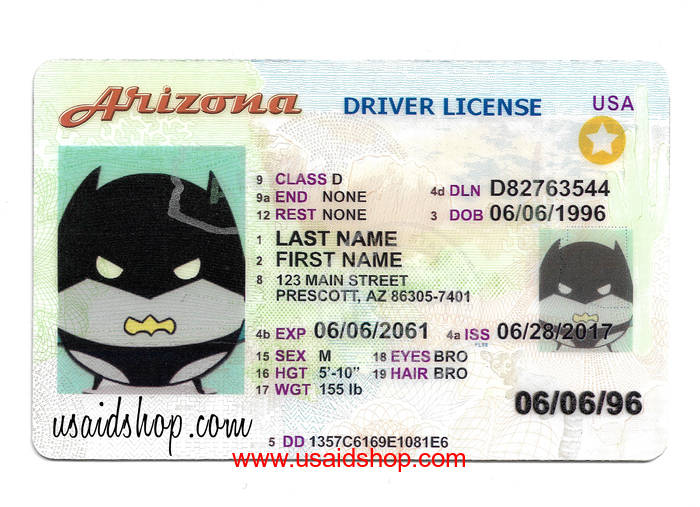 ARIZONA Fake IDs - Click Image to Close