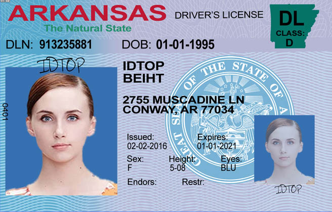 ARKANSAS Fake IDs
