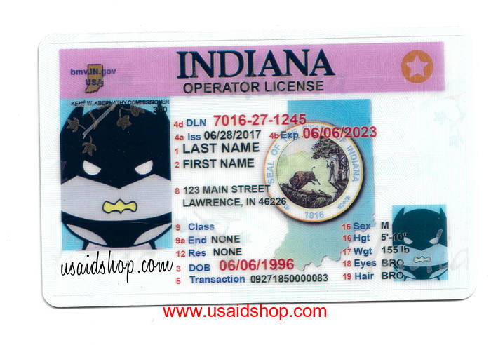 INDIANA Fake IDs - Click Image to Close