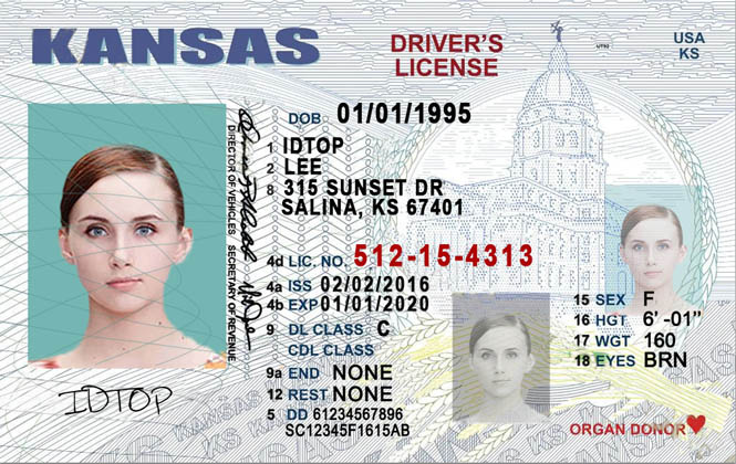 KANSAS Fake IDs