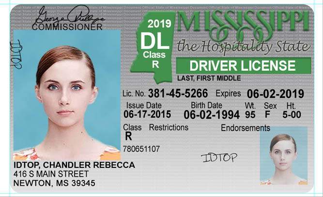 MISSISSIPPI Fake IDs