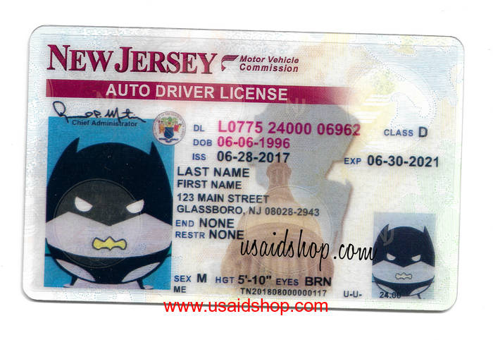 NEW JERSEY Fake IDs - Click Image to Close