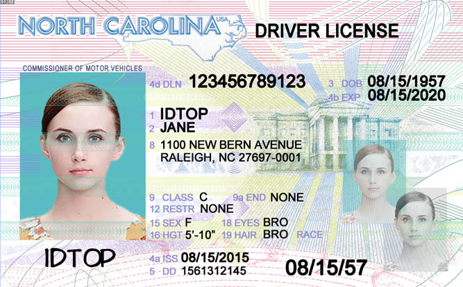NORTH CAROLINA Fake IDs
