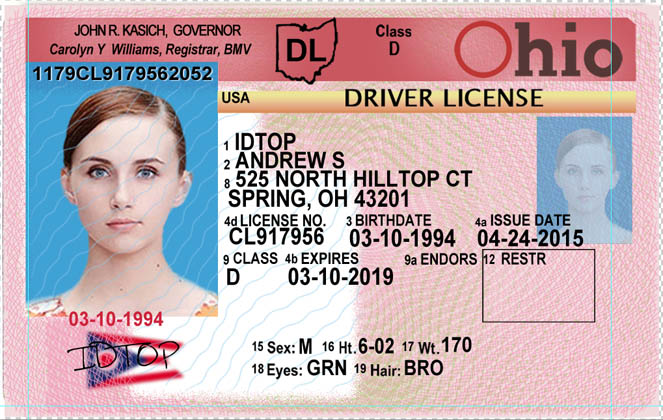 oh 90 Ohio Fake Cheap Sale Ids Id For Buy Maker fake - Cards usa scannable Ids 00