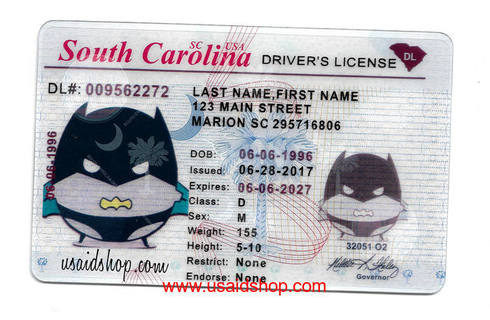 South Carolina Fake IDs [ID-037]