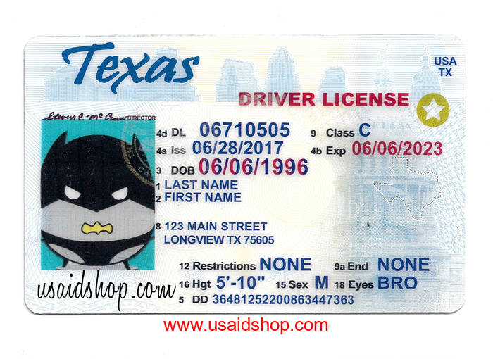 Texas drivers license template images template design ideas for Texas temporary drivers license template