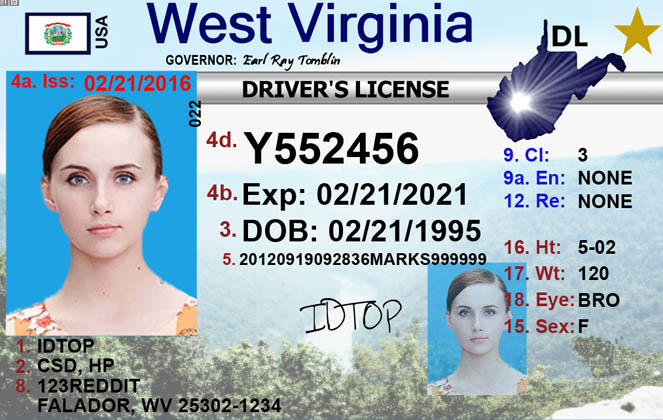 WEST VIRGINIA Fake IDs