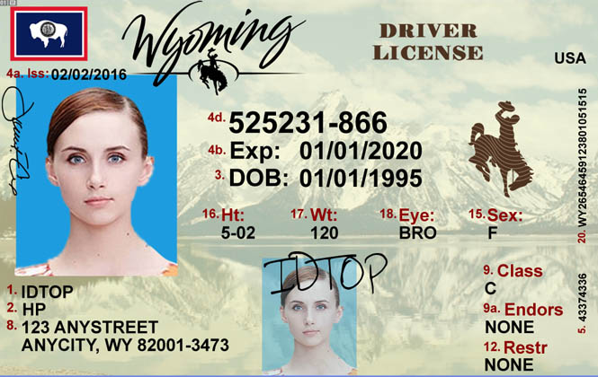 WYOMING Fake IDs